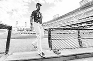 CHICAGO - AUGUST 10:  Jose Abreu #79 of the Chicago White Sox enters the dugout prior to the game against the Oakland Athletics on August 10, 2019 at Guaranteed Rate Field in Chicago, Illinois.  (Photo by Ron Vesely)  Subject:   Jose Abreu