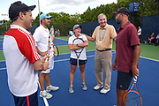 Photo by Mara Lavitt<br /> August 25, 2017<br /> New Haven, CT<br /> The Salovey Swensen Tennis day at the Yale practice courts and the CT Open at the CT Tennis Center at Yale.