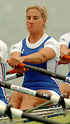 FISA World Cup Rowing Munich Germany..27/05/2004..Thursday morning opening heats...GBR W4X. Sarah Winckless.  [Mandatory Credit: Peter Spurrier: Intersport Images].