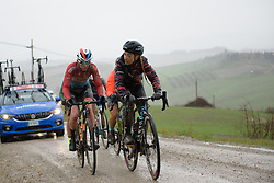 Pauline Ferrand Prevot at Strade Bianche - Elite Women 2018 - a 136 km road race on March 3, 2018, starting and finishing in Siena, Italy. (Photo by Sean Robinson/Velofocus.com)