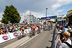 Cylists arriving to the finish during 3rd Stage of 27th Tour of Slovenia 2021 cycling race between Brezice and Krsko (165,8 km), on June 11, 2021 in Slovenia. Photo by Matic Klansek Velej / Sportida