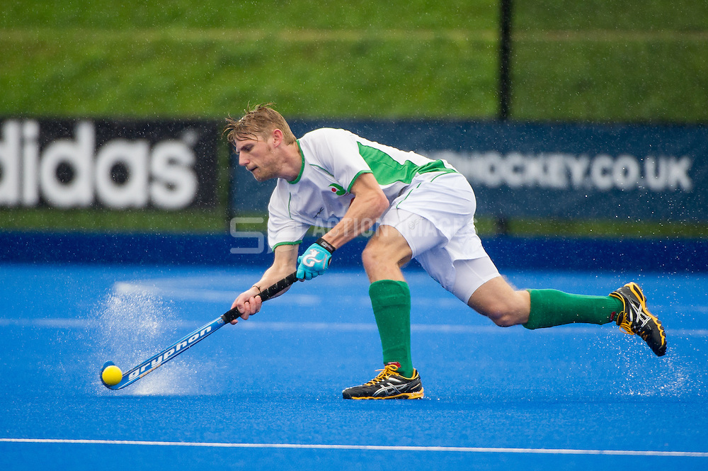 Canterbury's Craig Boyne. Canterbury v Holcombe - Now: Pensions Finals Weekend, Lee Valley Hockey & Tennis Centre, London, UK on 11 April 2015. Photo: Simon Parker