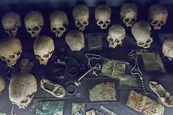 Skulls & Belongings Of People Killed In 1994 Genocide, Kigali Genocide Museum