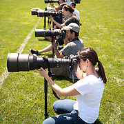 4/28/12 --- SPORTS SHOOTER ACADEMY --- Workshop participants cover a rugby match during Sports Shooter Academy IX. In the foreground is Nikon's Sara Wood. Photo by Rafael Delgado, Sports Shooter Academy Behind the Scenes with the cast and crew of Sports Shooter Academy.