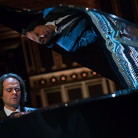 Gergely Boganyi of Hungary pianist and designer plays on his newly introduced piano during a Day of Hungarian Culture celebration in Budapest, Hungary on January 21, 2015. ATTILA VOLGYI