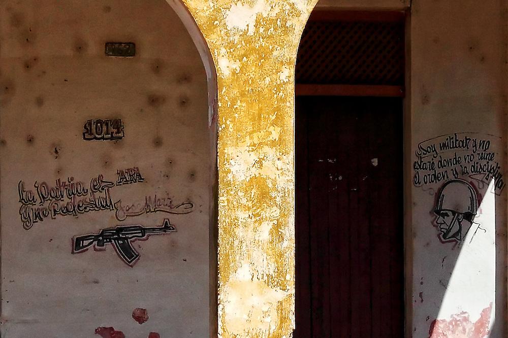 Military signs in San Miguel de los Banos, Matanzas, Cuba.