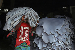 October 4, 2018 - Dhaka, Bangladesh - Tannery labor is working at tannery factory in Saver at Dhaka Bangladesh, October 4, 2017  (Credit Image: © Kazi Salahuddin Razu/NurPhoto/ZUMA Press)