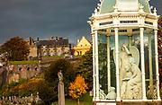 Graveyard and sculptures behind Sirling Castle, Stirling, Scotland