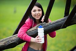 Aleksandra Mikic posing during official photo shoot of Miss Sporta Slovenije 2016, on April 23, 2016 in Tivoli, Ljubljana, Slovenia. Photo by Vid Ponikvar / Sportida
