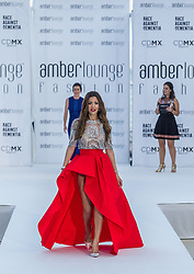 May 25, 2018 - Montecarlo, Monaco - Tamara Boullier wife of Eric Boullier presents a creation of Alessandra Vicedomini at the 15th Amber Lounge Charity Fashion Show 2018 in Monte Carlo, Monaco. (Credit Image: © Robert Szaniszlo/NurPhoto via ZUMA Press)