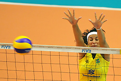 A ponteira da Seleção Feminina de Vôlei, Paula Pequeno, durante Grand Prix de Vôlei, em São Carlos / SP. FOTO: Jefferson Bernardes/Preview.com