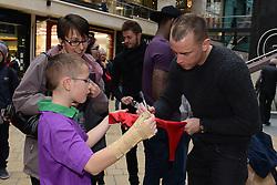 Bristol City's Aaron Wilbraham signs autographs - Photo mandatory by-line: Dougie Allward/JMP - Mobile: 07966 386802 - 11/03/2015 - SPORT - Football - Bristol - Cabot Circus Shopping Centre - Johnstone's Paint Trophy