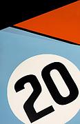 Image detail of a Gulf Porsche 917 K in Redmond, Washington, Pacific Northwest
