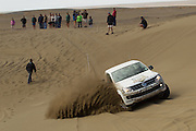 Sarel van der Merwe hosts the 8th Volkswagen Commercial Vehicles Amarok Spirit of Africa Challenge finals at Assen Kerhr in Southern Namibia. 20 teams compete over four days in an atmept to claim the title. Image by Greg Beadle