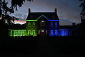 September 25, 2021 - MD: Government House of Maryland Lights Up Blue and Green