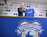Neil Warnock is officially announced as the new Cardiff city manager at a press conference at the Cardiff city Stadium in Cardiff, South Wales on Thursday 6th October 2016.  pic by Andrew Orchard, Andrew Orchard sports photography