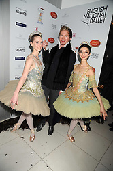 HENRY CONWAY and dancers at a reception before the launch of the English National Ballet Christmas season launch of The Nutcracker held at the St,Martins Lane Hotel, London on 5th December 2008.