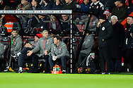 Arsenal manager Arsene Wenger getures towards the 4th official to complain during the Premier League match between Bournemouth and Arsenal at the Vitality Stadium, Bournemouth, England on 3 January 2017. Photo by Graham Hunt.