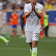 Abby Wambach, U.S. Women's National Team, during the U.S. Women's National Team Vs Korean Republic, International Soccer Friendly in preparation for the FIFA Women's World Cup Canada 2015. Red Bull Arena, Harrison, New Jersey. USA. 30th May 2015. Photo Tim Clayton