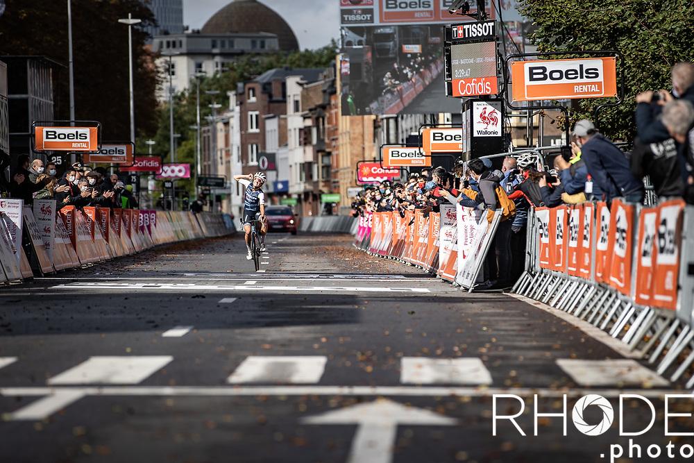 Elizabeth Deignan (GBR/Trek-Segafredo) solo to victory<br /> <br /> 4th Liège-Bastogne-Liège-Femmes 2020 (1.WWT)<br /> 1 Day Race: Bastogne – Liège 135km<br /> <br /> <br /> ©kramon