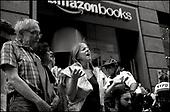 Never Again Amazon protest New York