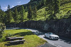 THEMENBILD - ein Auto auf der Strasse. Die Hochalpenstrasse verbindet die beiden Bundeslaender Salzburg und Kaernten und ist als Erlebnisstrasse vorrangig von touristischer Bedeutung, aufgenommen am 11. Juni 2020 in Fusch a.d. Glstr., Österreich // a car drives on the road. The High Alpine Road connects the two provinces of Salzburg and Carinthia and is as an adventure road priority of tourist interest, Fusch a.d. Glstr., Austria on 2020/06/11. EXPA Pictures © 2020, PhotoCredit: EXPA/ JFK