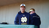 CARY, NC - MARCH 04: Notre Dame head coach Mik Aoki. The University of Rhode Island Rams played the University of Notre Dame Fighting Irish on March 4, 2017, at USA Baseball NTC Field 3 in Cary, NC in a Division I College Baseball game, and part of the Irish Classic tournament. Notre Dame won the game 8-4.