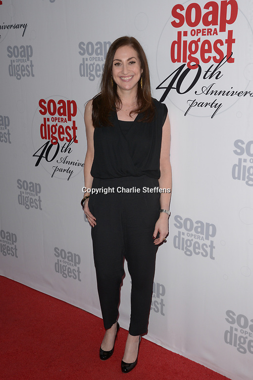 STEPHANIE SLOANE at Soap Opera Digest's 40th Anniversary party at The Argyle Hollywood in Los Angeles, California