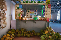 Coconut Stand, Havana Cuba 2020 from Santiago to Havana, and in between.  Santiago, Baracoa, Guantanamo, Holguin, Las Tunas, Camaguey, Santi Spiritus, Trinidad, Santa Clara, Cienfuegos, Matanzas, Havana