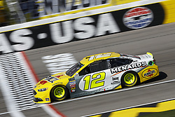 March 2, 2018 - Las Vegas, Nevada, United States of America - March 02, 2018 - Las Vegas, Nevada, USA: Ryan Blaney (12) brings his race car down the front stretch during practice for the Pennzoil 400 at Las Vegas Motor Speedway in Las Vegas, Nevada. (Credit Image: © Chris Owens Asp Inc/ASP via ZUMA Wire)