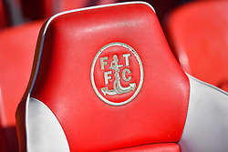 General view of the Fleetwood Town emblem on seating
