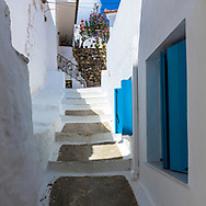 Stairway among the houses in Skopelos island