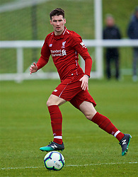 DERBY, ENGLAND - Friday, March 8, 2019: Liverpool's substitute Conor Masterson during the FA Premier League 2 Division 1 match between Derby County FC Under-23's and Liverpool FC Under-23's at the Derby County FC Training Centre. (Pic by David Rawcliffe/Propaganda)