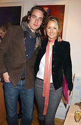 ROBERT FRY and MISS ALICE BRUDENELL-BRUCE at an exhibition of art by Jeffrey Kroll entitled Imirage held at the Arndean Gallery, Cork Street, London on 19th October 2005.<br /><br />NON EXCLUSIVE - WORLD RIGHTS