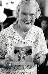 Portrait of an elderly woman, New Basford Community Centre, Nottingham, UK 1984