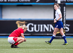 Kelsey Jones of Wales dejected at the final whistle <br /> <br /> Photographer Simon King/Replay Images<br /> <br /> Six Nations Round 1 - Wales Women v Italy Women - Saturday 2nd February 2020 - Cardiff Arms Park - Cardiff<br /> <br /> World Copyright © Replay Images . All rights reserved. info@replayimages.co.uk - http://replayimages.co.uk