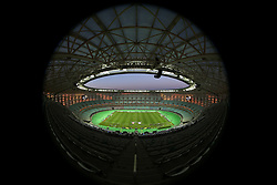 A general view from the top of the main stand at the Olympic Stadium ahead of the match during the UEFA Europa League final at The Olympic Stadium, Baku, Azerbaijan.