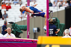 London, August 11 2017 . Trey Hardee, USA, in the men's decathlon high jump on day eight of the IAAF London 2017 world Championships at the London Stadium. © Paul Davey.