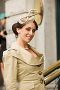 Suzanne Sheridan from Roscam Galway at Hotel Meyrick in Eyre Sq. Galway for their best dressed Lady Competition during Galway's Race week . Photo:Andrew Downes