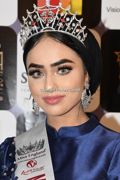 Sara Iftekhar is a Muslim Miss England finalist arrives at the Annual International Pakistan Prestige Awards (IPPA) at Indigo at The O2 on 9th September 2018, London, UK