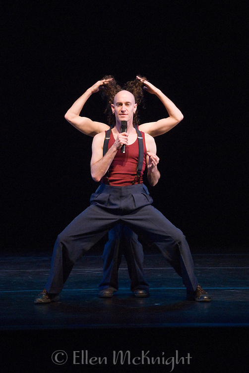 The Umbilical Brothers, performing at the Joyce Theater in New York City