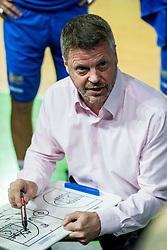 Bostjan Kuhar, coach of Hopsi during basketball match between KK Petrol Olimpija and KK Hopsi Polzela in Round #2 of Liga NovaKBM 2018/19, on October 21, 2018, in Arena Stozice, Ljubljana, Slovenia. Photo by Vid Ponikvar / Sportida
