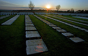 MILL ROAD  CEMETERY, SOMME, FRANCE..the headstones are laid horizontaly as the ground beneth is unstable..COPYRIGHT OWNED PHOTOGRAPH BY BRIAN HARRIS.NO UNAUTHORISED USAGE