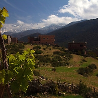 Africa, Morocco, Tansghart. View from Eve Branson Foundation in Tansghart in the Atlas Mountains.