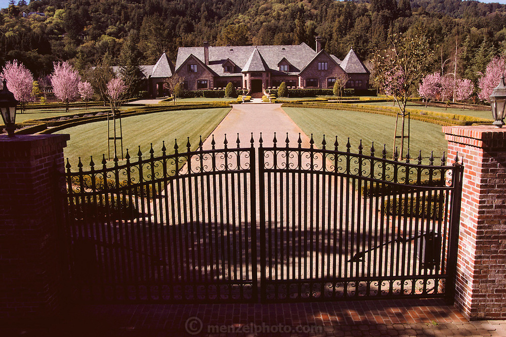 Silicon Valley, California; Woodside home owned by absentee Hong Kong businessman. (1999).