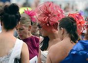 © Licensed to London News Pictures. 01/06/2012. Epsom , UK Ladies Day today 1st June 2012 at Epsom 2012 Investic Derby Festival. The Queen will attend tomorrow's race meet as part of the 60th Jubilee celebrations. Photo credit : Stephen Simpson/LNP