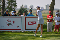 August 23, 2018 - Regina, SK, U.S. - REGINA, SK - AUGUST 23: Nelly Korda (USA) watches her tee shot on 12 during the CP Women's Open Round 1 at Wascana Country Club on August 23, 2018 in Regina, SK, Canada. (Photo by Ken Murray/Icon Sportswire) (Credit Image: © Ken Murray/Icon SMI via ZUMA Press)