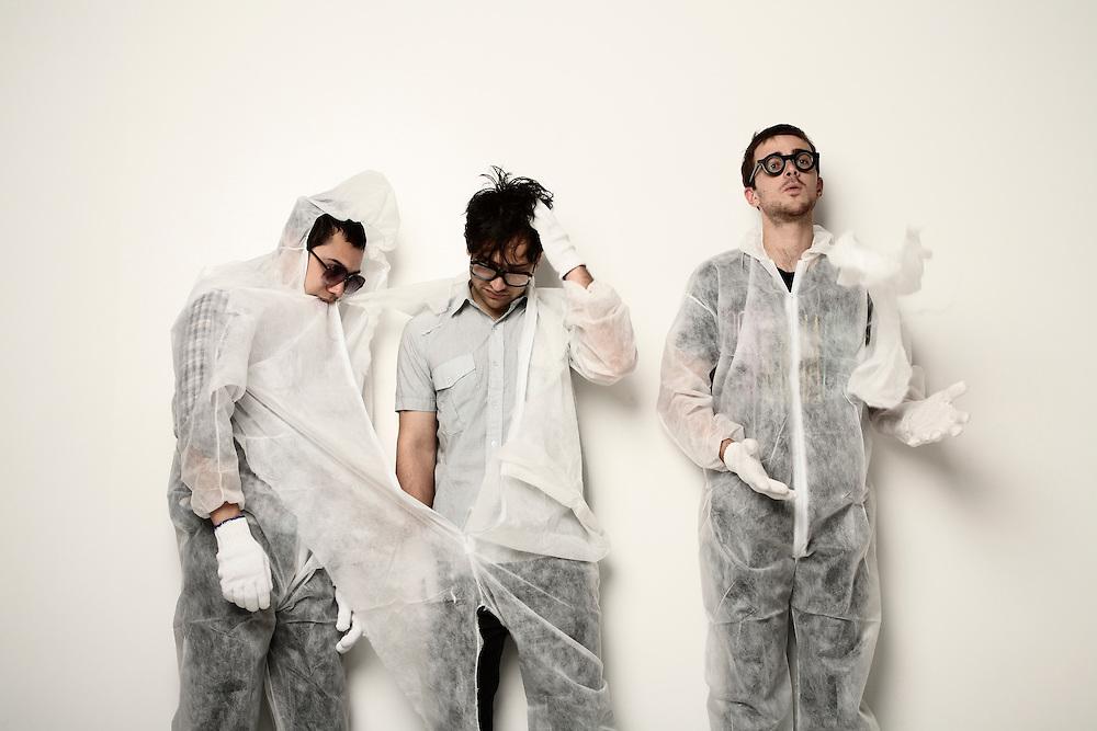 Kody Nielson, Ruban Nielson, Paul Roper from The Mint Chicks