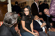 NANDANA SEN; V.S. NAIPAUL;, Faroukh Dhondy;V.S. NAIPAUL;, Aatish Taseer  book launch party for his new book Stranger To History. Travel book asks what it means to be a Muslim in the 21st century. Hosted by Gillon Aitken. Kensington, London. 30 March 2009