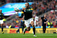 Bryan Habana of South Africa in action. Rugby World Cup 2015 quarter final match, South Africa v Wales at Twickenham Stadium in London, England  on Saturday 17th October 2015.<br /> pic by  John Patrick Fletcher, Andrew Orchard sports photography.